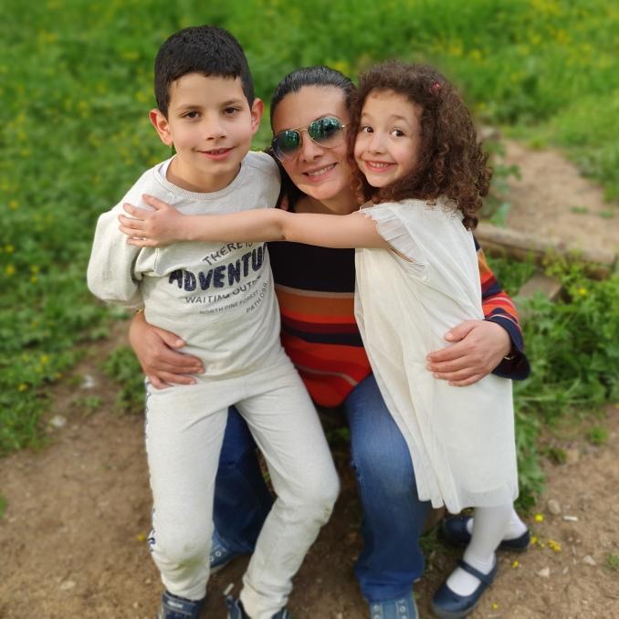 myrna and kids